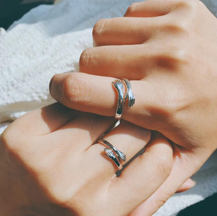 Give Me A Hug Hand Open Knuckle Rings Jewellery - MYTONSEE