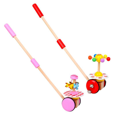 Baby Walk Trolley Single Rod Spiral Trolley Education Toy Cart - MYTONSEE