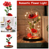 Romantic Immortal Flower LED Light Rose With Glass Shade - MYTONSEE