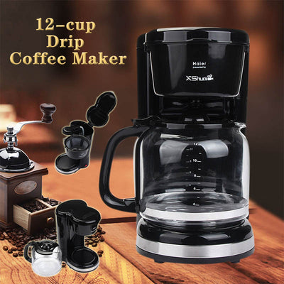 12-cup Large Capacity Drip Coffee Maker - MYTONSEE