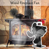 Heat Powered Wood Stove Fan 4 Blades Fireplace Fans - MYTONSEE