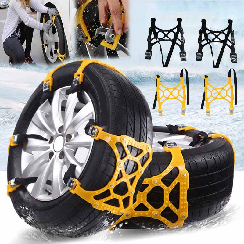 Winter Car Snow Chains Tire Anti-skid Belt (2PC) - MYTONSEE