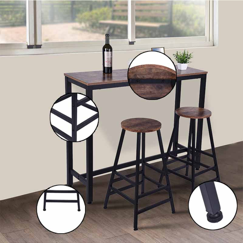 Bar Stool Square Leg Chair Dining Chair - MYTONSEE