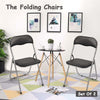 Folding Chairs Office Training Chairs--Set Of Two - MYTONSEE