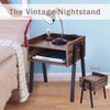 End Table With Drawer Vintage Nightstand - MYTONSEE