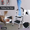 Folding Step Stool With Handle Safety 2-Step Ladders - MYTONSEE