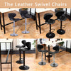 Leather Swivel Bar Stools With Backrest - MYTONSEE