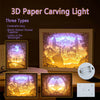 3D Paper Carving Light Art Decor Lamp - MYTONSEE
