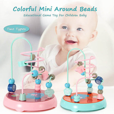 Colorful Wooden Mini Around Beads For Children Baby - MYTONSEE