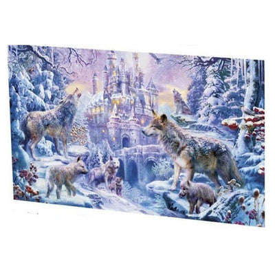 1000 Pieces Wolf In Snow Jigsaw Puzzles Assembling Games - MYTONSEE