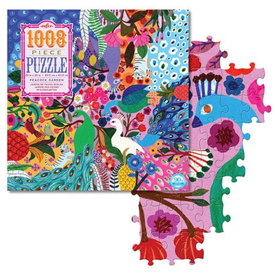 Peacock Garden Puzzles 1000 Piece - MYTONSEE
