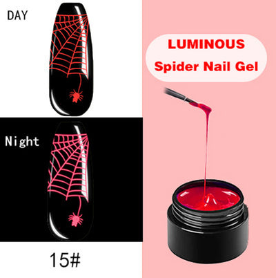 DIY Fluorescent Manicure Spider Glue-Use your imagination to make your nails more beautiful - MYTONSEE