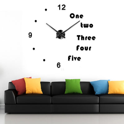 Modern 3D DIY Self Adhesive Wall Clock Home Decor - MYTONSEE
