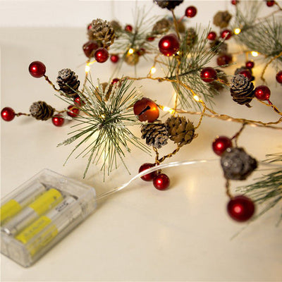 LED copper wire string pine cone Christmas rattan crafts holiday lights(Buy three free shipping)