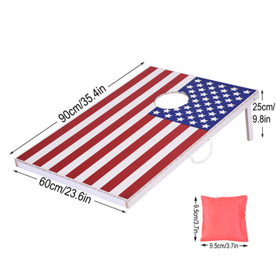 LED Lighted Wood Corn hole Game Set (American Flag) - MYTONSEE