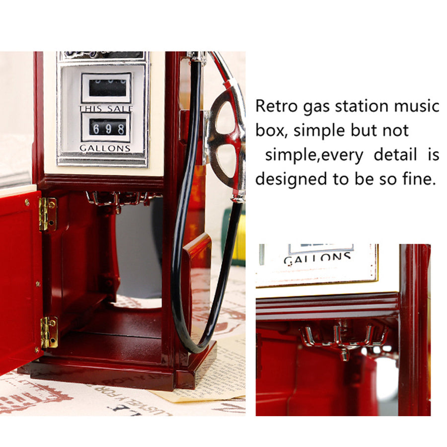American Retro Gas Station Music Box Home Decor - MYTONSEE