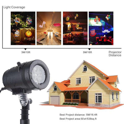 Christmas LED Light Projector Auto Moving Projector Lights - MYTONSEE