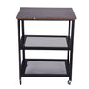 3-Tier Kitchen Island Serving Cart On Wheels With Storage - MYTONSEE