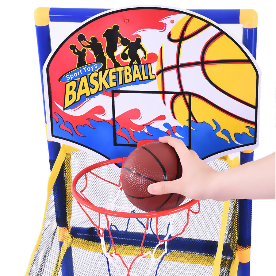 Toddlers Basketball Stand Outdoor/ Indoor Basketball Set Boy Gift - MYTONSEE