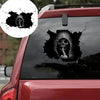 💀Halloween horror black skull sticker💀(Buy more save more)