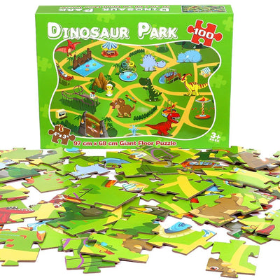 100 Piece Dinosaur World Jigsaw Puzzle (Ages 3-12 Kids) - MYTONSEE