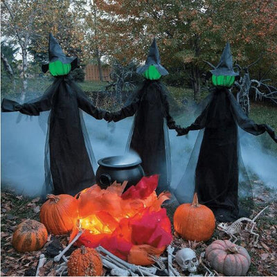 Three witches-glow and make scary sounds