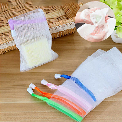 Soap Bag Suds Maker Mesh Net Bags Sack Bath Pouches Holder - MYTONSEE
