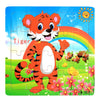 Children Animals Wooden Puzzles Set (4 Puzzles 20 Piece) - MYTONSEE