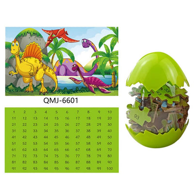 60 Pieces Wooden Dinosaur Puzzle For Kids 3 Years+ - MYTONSEE