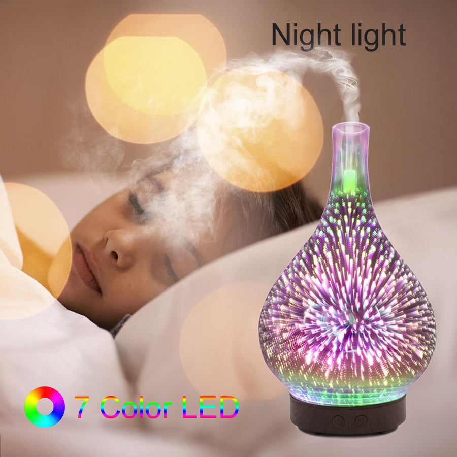 Glass Night Lights Humidifier--7 Colors Changing - MYTONSEE