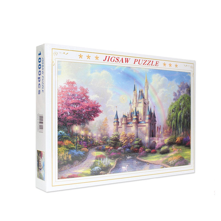 Jagsaw Puzzle -Rainbow Castle-1000 Piece 27.56 by 19.69 For Adults Kids Gift - MYTONSEE