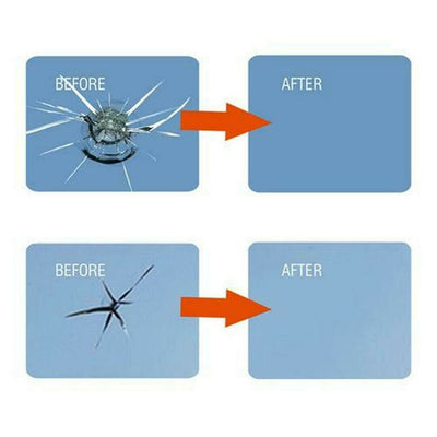 Magic glass repair glue-after a few seconds of applying it, your glass will have no cracks