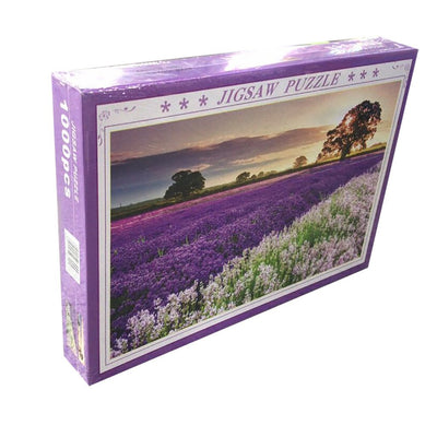 Lavender Jigsaw Puzzle 1000PC Flowers Sunset Jigsaw - MYTONSEE