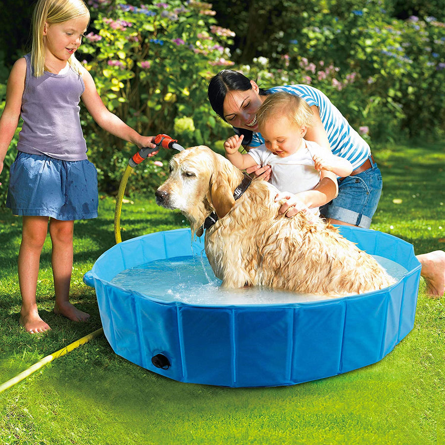 Foldable Dog  Swimming Pool Bathing Tub for Pets Dogs Cats Kids - MYTONSEE