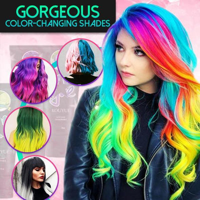 Thermally change color magic hair dye