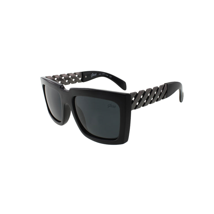 Jase New York Casero Sunglasses in Gunmetal - Asalee West™