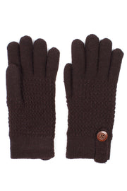 Mens Textured Dash Knit Winter Gloves Lined - Asalee West™