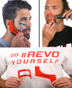 revobeard revogoatee bundle beard goatee template stencil guide outline edge up tool. sideburns step cut curve go #revo yourself. save money bundle sale barber time barbershop cut hair cut t shirts chinline mustache men man male styles hair facial handsome look good fresh cut groom grooming razor blader buzzer trimmer trim straight edge outline tapered edges