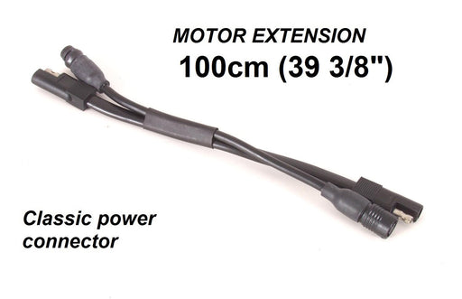 "Motor extension, power and communication cables, 1000mm (39 3/8""). Classic power connector"