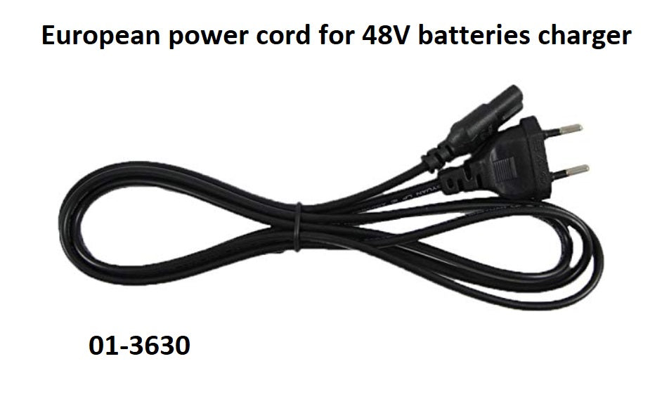 BionX Power Cord for 48V battery charger.