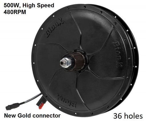 BionX P-Series motor - 500W, 480RPM, Cassette, 36 Spokes, New Gold Connector, 01-5984