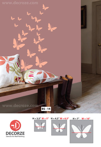 Butterfly Stencils From Decorze.com