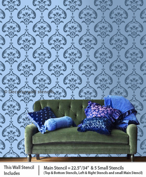 Most beautiful wall stencils USA