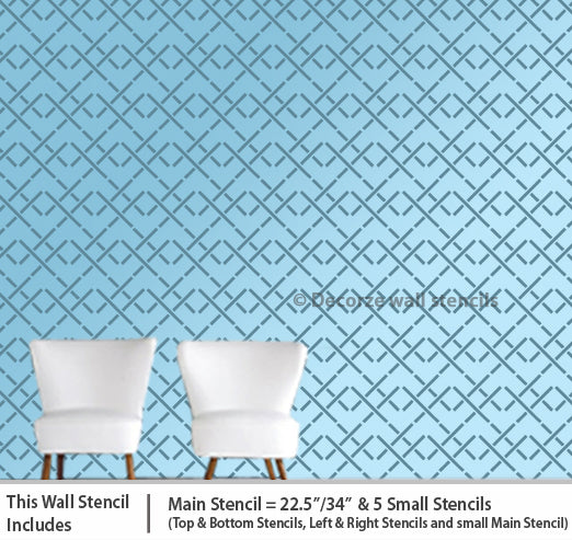 Stencil designs for living room USA