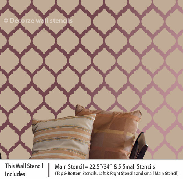Moroccan design Stencils for wall USA