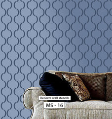 living room accent wall stencils
