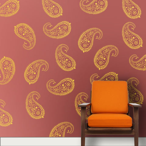 Mango Motif Wall Painting stencils for wall painting, mango Motif Wall Painting Ideas, D-04