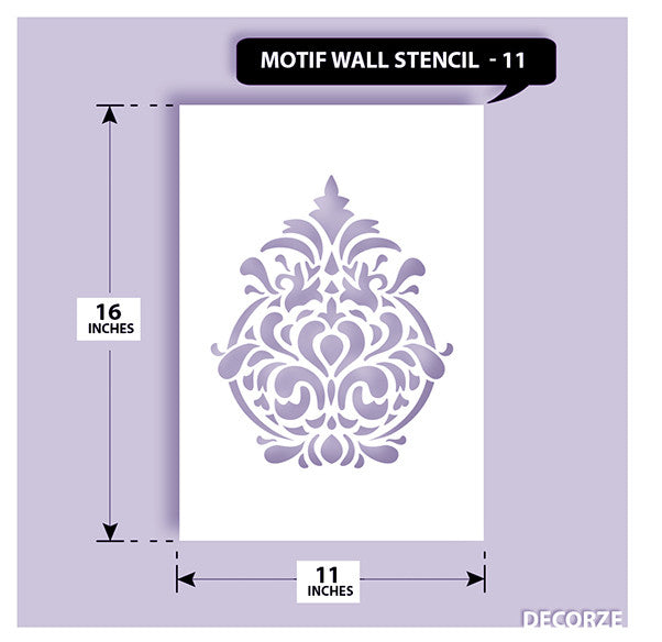 Indian Paisley/Motif Stencil, MWS-11