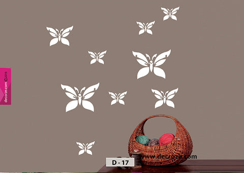 Butterfly painting stencil for wall painting ideas, Butterfly stencils for wall painting, D-17