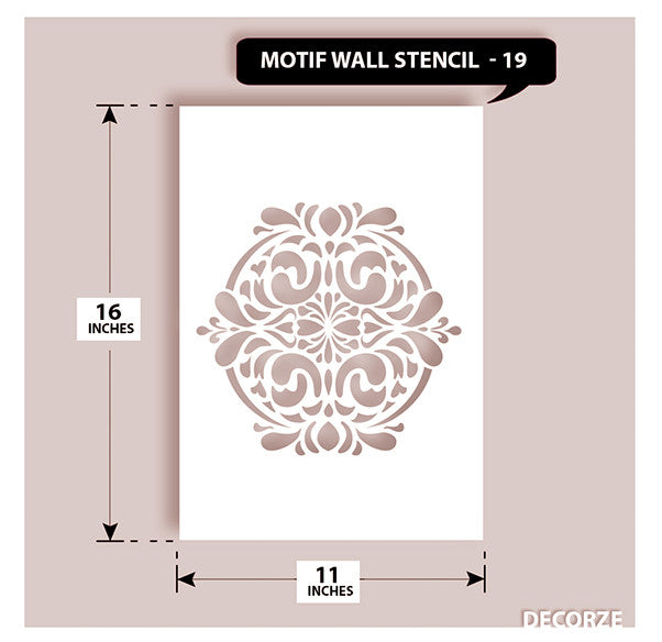 Indian Paisley/Motif Stencil, MWS-19